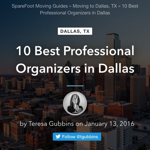Rated top 10 best professional organizers in Dallas Texas.